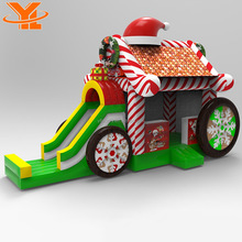 Unique Design Inflatable Christmas Gift Hat Car Inflatable Bounce Slide For Children