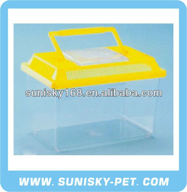 Practical Plastic Pet Case with Carrying Handle