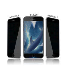 High Clear 2.5D Smooth Round Edge Anti Privacy Tempered Glass Screen Protector for iPhone 7/7 Plus
