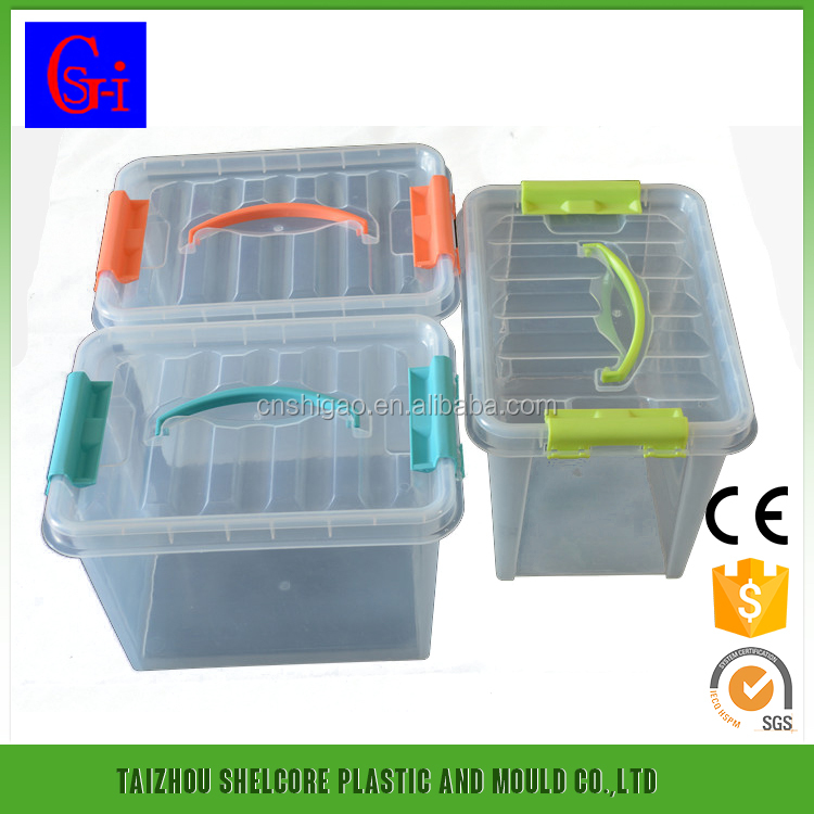 Unique Shape Unbreakable Body Plastic Storage Box With Handle