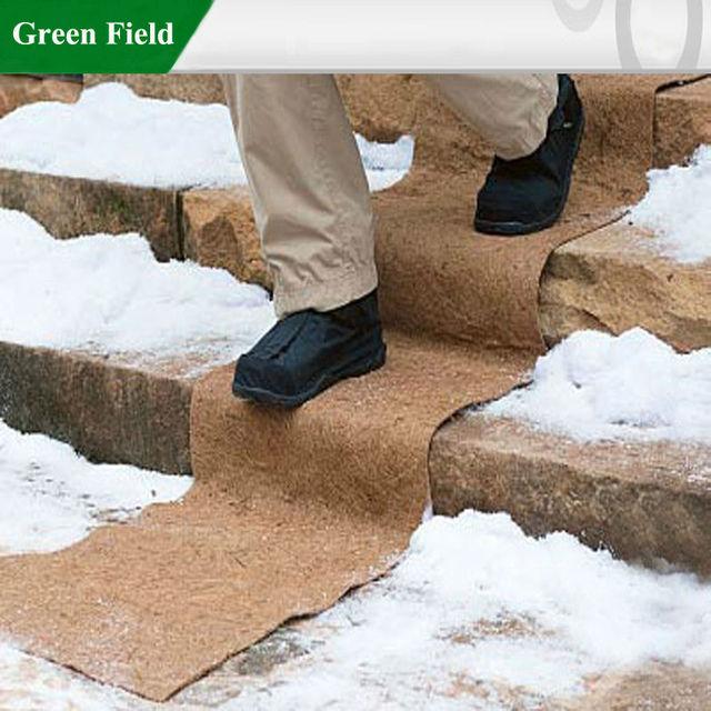 Green Field Biodegradable No-Slip Ice/Snow Coco Fiber Carpets