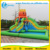 PVC Tarpaulin Inflatable Octopus Water Slide With Pool For Children