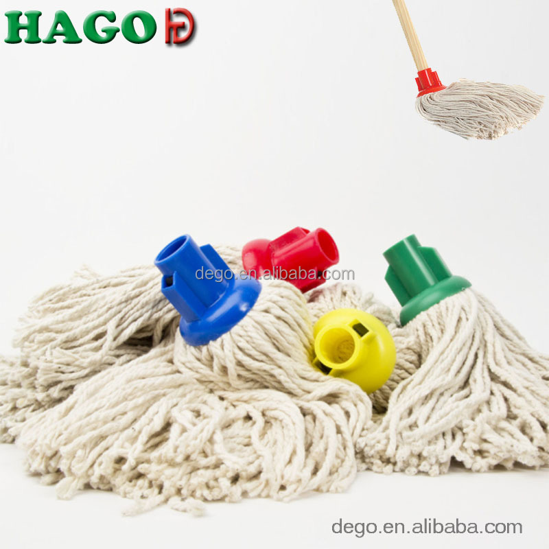 pure 16oz cotton mop refill string head wooden handle large traditional floor wet mop