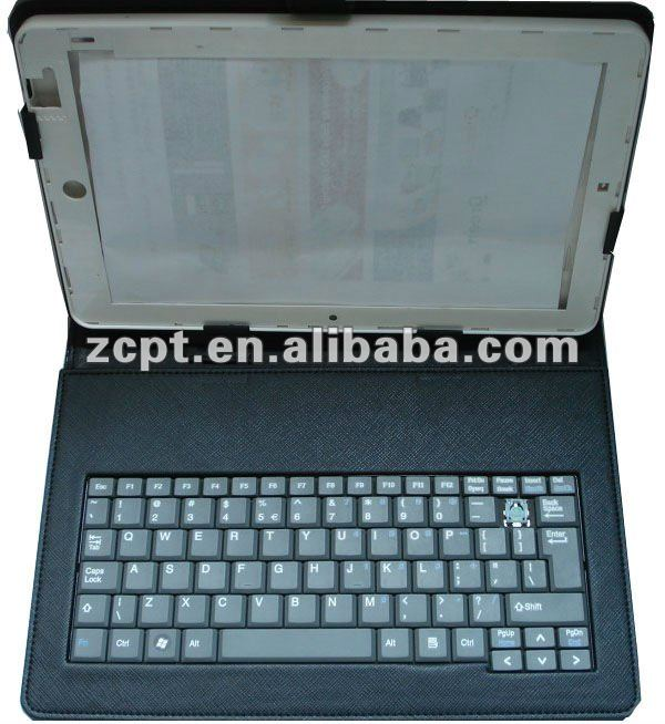 Tablet PC leather case laptop cover with keyboard