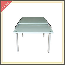 dining folding glass table extendable glass table DT029