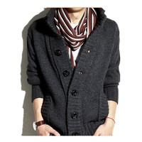 2016 spring new design fashion korea style casual long sleeve men knitwear cardigan