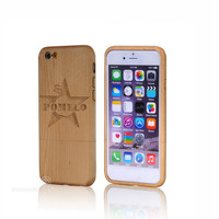 Wholesale factory walnut mobile Unfinished wooden wood case for iphone6