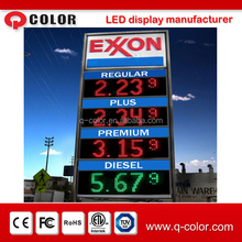 outdoor displays as gas station signs/gas station led price sign/digital gas price sign