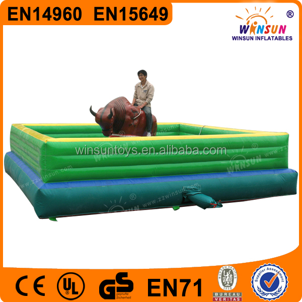 Sports games inflatable bull riding machine, inflatable rodeo bull sport game, adults inflatable mechanical bull for sale