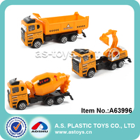 Newest free wheel 1:64 scale engineering construction toy truck diecast truck model