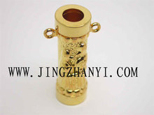 Hot selling aroma bottle pendant crystal gold perfume necklace pendant