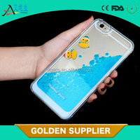 China manufacture liquid 3D plastic cell phone case for iphone 6