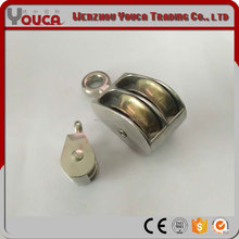 YOUCA Factory price high-altitude climbing zinc alloy double rigid pulley
