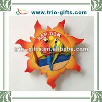 Polyresin sun shape fridge magnets