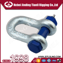 jis type dee 8t forged shackle hot dip galvanized safety u shackle bow wholesale shackle