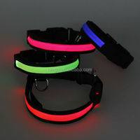 2014 import pet animal products from china led glowing dog collars