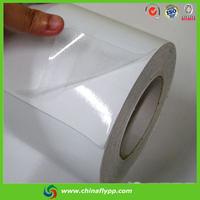 FLY India market hot film 70micron white glossy pvc cold laminatiing film for picture protection