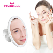 TOUCHBeauty 360 Rotation Locking Suction Rechargable Portable & Illuminated 7X Magnifying Makeup Mirror with LED Light