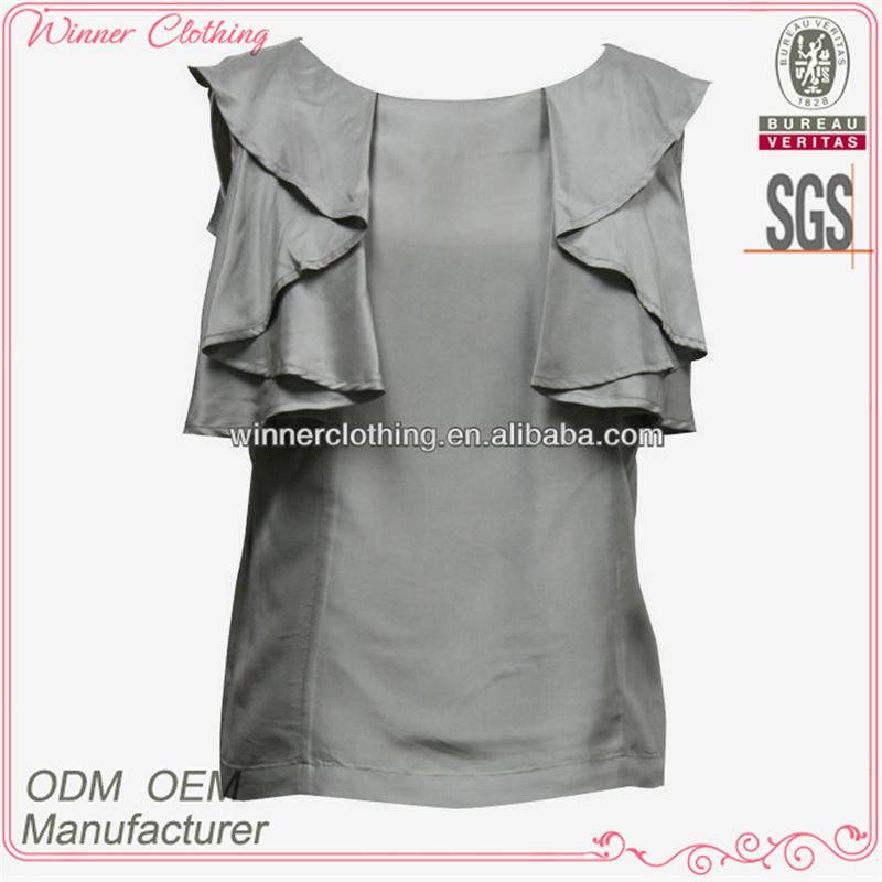 OEM/ODM manufacturer new designs summer fashion ladies formal blouse and pants