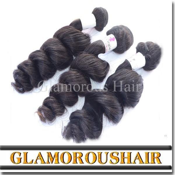 Peruvian Virgin Hair Natural Colour Unprocessed 8a Loose wave 100% Human Virgin Peruvian Hair Weaving