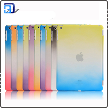 Gradient color three-fold pu leather tablet case for ipad 9.7 most popular 9.7 inch smart cover