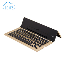Tablet PC Folding Keyboard Aluminum Triple Folding Bluetooth Keyboard For iOS/Android/Windows