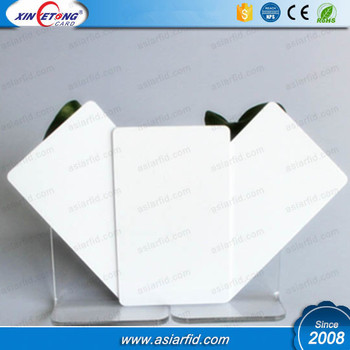 13.56mhz n-tag215 blank rfid pvc card for thermal printer