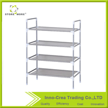 Store More 4 Tiers Shoe Rack Space Saving Shoe Tower Cabinet Storage Organizer