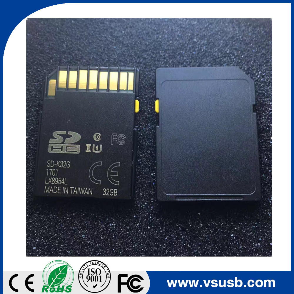 Class10 32 GB 64GB Black SD card with Yellow slider and changeable CID for Car GPS Navigation