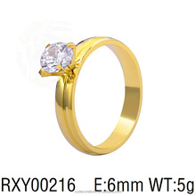 RXY00216 hot new men and women zircon fashionable rings stainless steel 18k gold plated jewely ring factory price