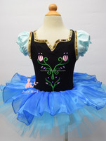 Frozen Elsa Princess Dress, Lantern Sleeve,Halloween,Christmas dance skirt, snowflakes dance skirt