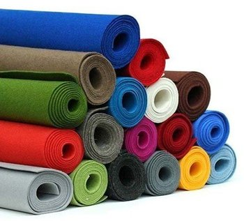 Nonwoven color polyester felt