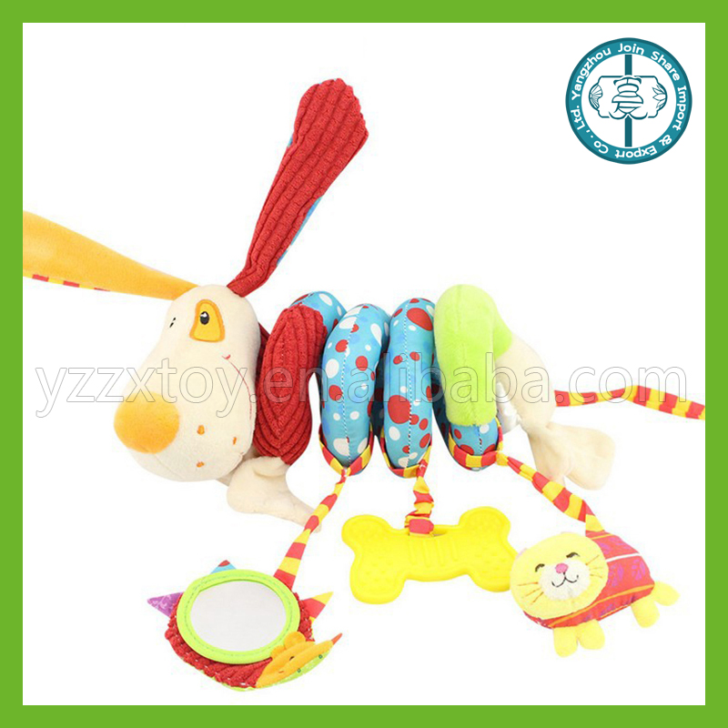 Cute interesting hot sale high quality plush dog baby toys around the bed