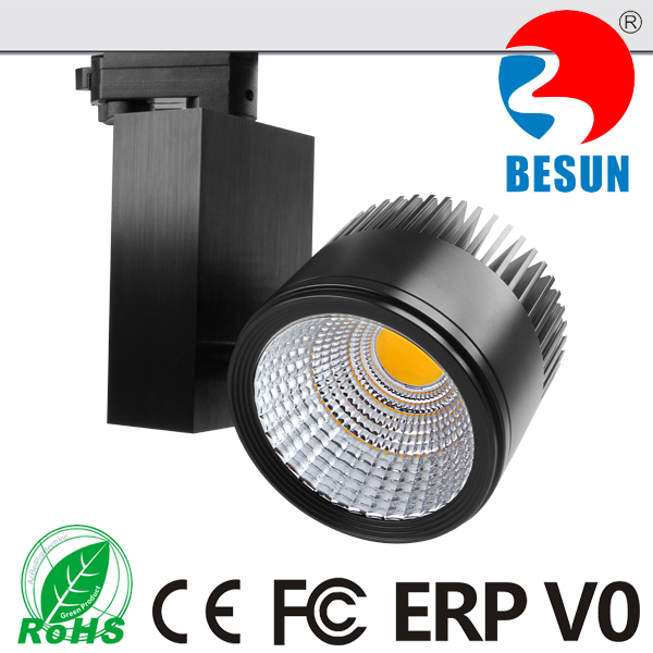30w 40w Black color led track light for gallery