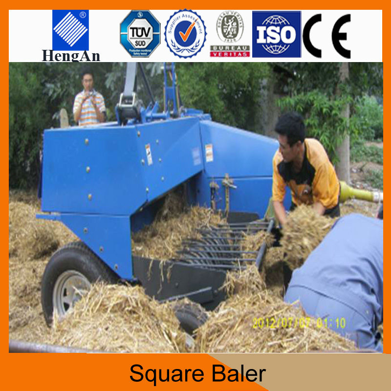 Mini Rice Straw Tractor Square Hay Baler