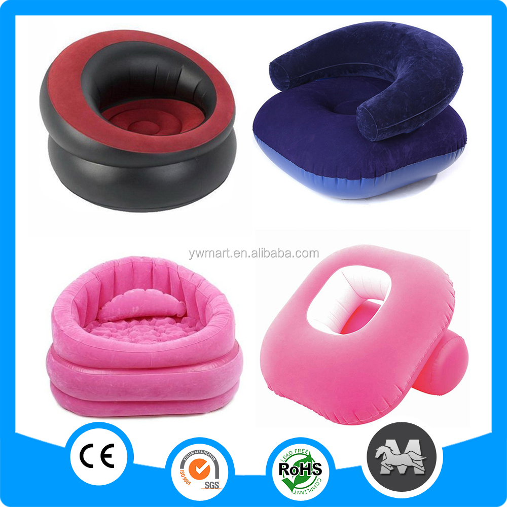 Flocked PVC inflatable living room sofa,China inflatable air sofa chair