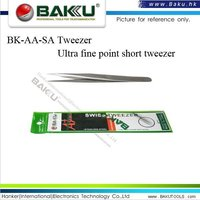 Ultra Fine Point Short Tweezer (BK-AA SA A3)