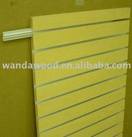18mm melamine faced slotted mdf
