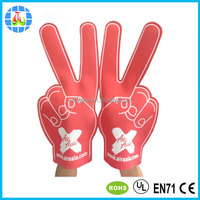promotion cheap custom red foam fingers for cheering