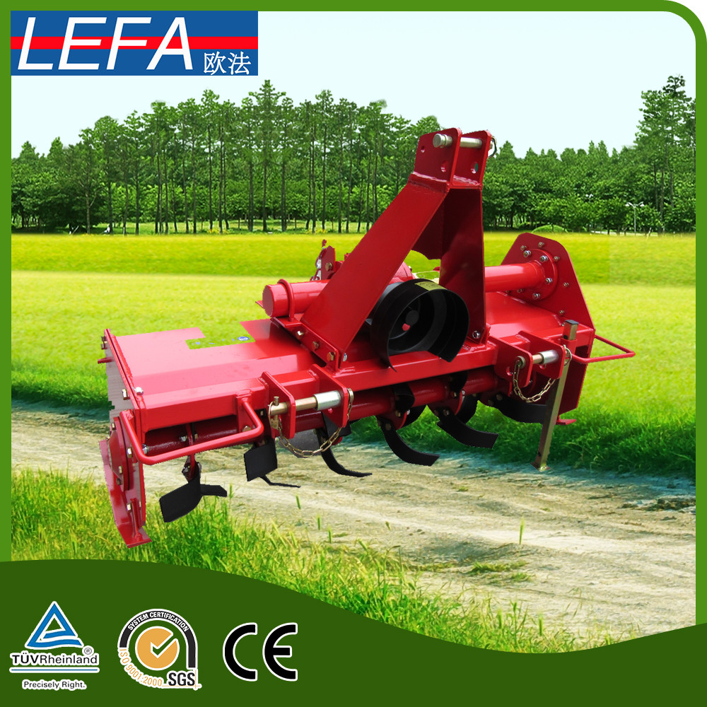Small agricultural tractor rotary cultivator from LEFA factory