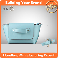M4587 5-8USD small size blue handbag PU lady bags in china cute cross body bag supplier in china