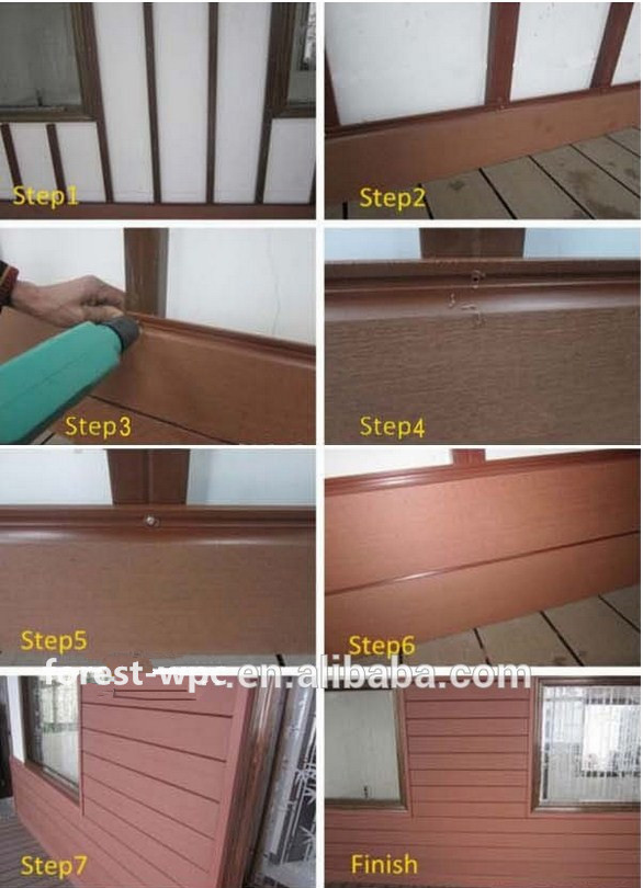 imitation stone wall panel bamboo slat wall cladding wpc cladding wpc decking composite wood