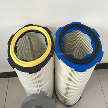 Dust collector pleated polyester air filter