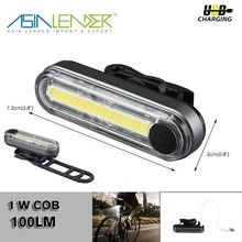 #100LM 1W COB LED Rear USB Bike Bicycle Tail Light Rechargeable