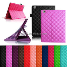 New Flip PU Leather Rhombus Quilted Smart Case Cover Stand for Apple iPad 2/3/4