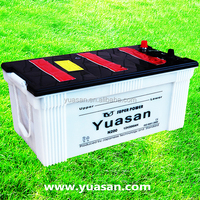 Yuasan Professionally Producing Heavy Duty Truck Batteries 12V 200AH Lead Acid Car Battery with Glass Fiber Separators