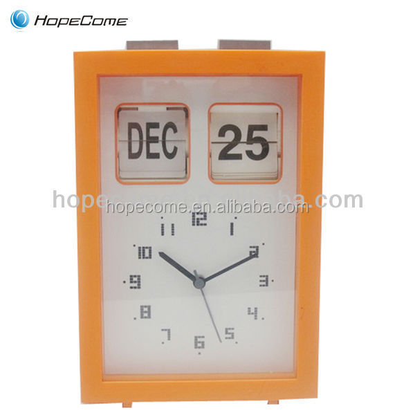 Modern Digital Desktop Clock With Automatic Flip Calendar