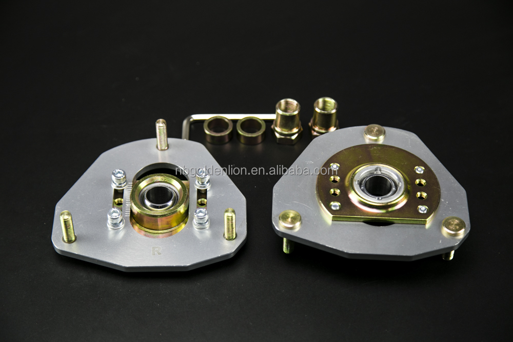 Adjustable coilover damp front pillow ball strut mounts plate camber & caster kit for Toyota Corolla AE86