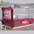 Best selling customized made fried ice cream roll kiosk with juice bar counter design