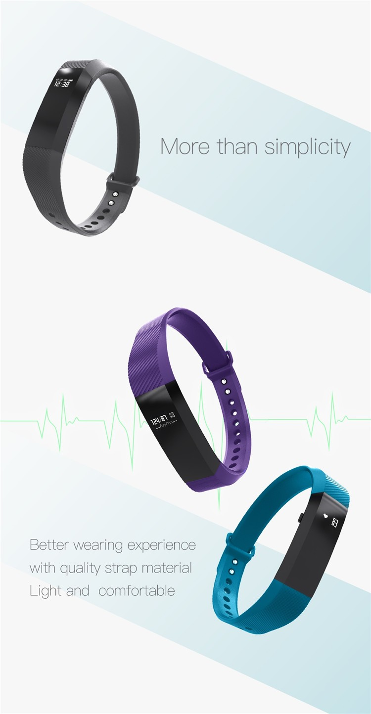 M5 health tracking bracelet with blood oxygen (SpO2), fatigue, blood pressure and heart rate monitoring